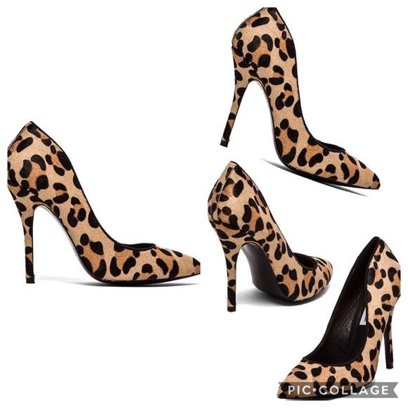 d87d95009c2 Steve Madden Galleryl Cheetah Print Fur Pumps